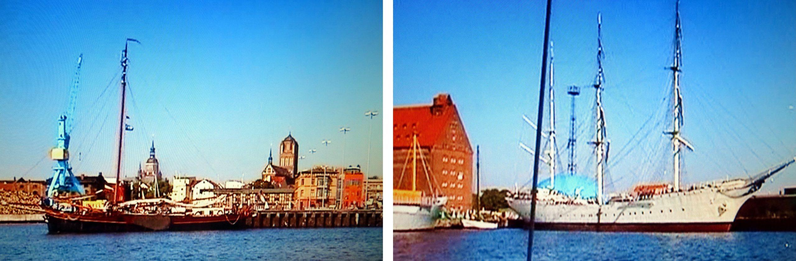 Links: Könnte die Schwester unserer DE ALBERTHA sein - Rechts: Die erste GORCH FOCK