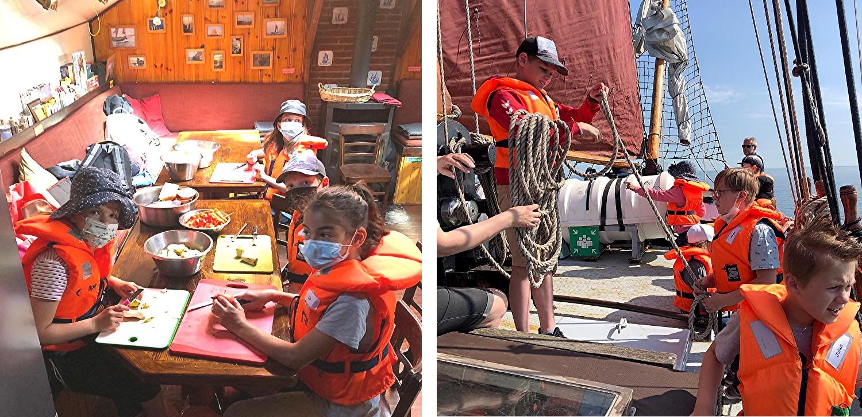Wie aus diesen Fotos ersichtlich, auf diesem Schiff gibt es immer was zu tun.